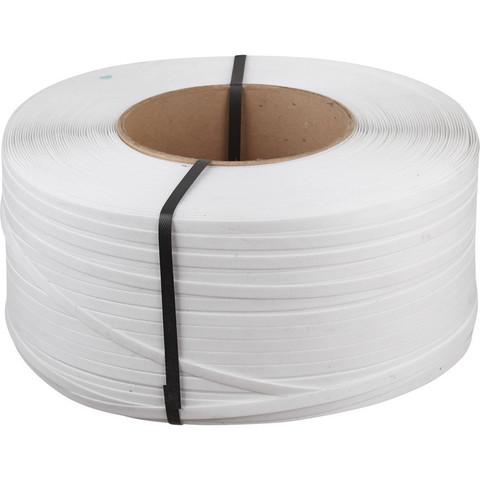 Стреппинг-лента полипропиленовая белая 12x0.6 мм длина 3000 м