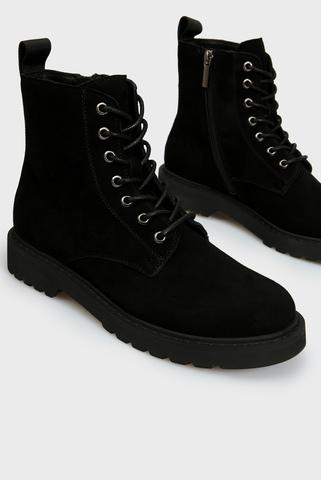 Женские черные замшевые ботинки PRPY