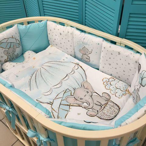 Комплект в кроватку (круг, овал)