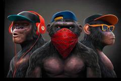 """Постер """"Трио обезьян"""""""