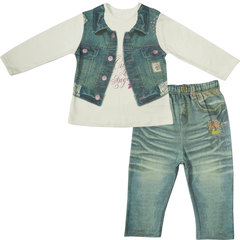 Папитто. Комплект кофточка и штанишки для девочки FASHION JEANS вид 1