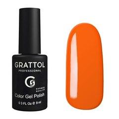 Grattol, Гель-лак 029, Orange Red, 9 мл