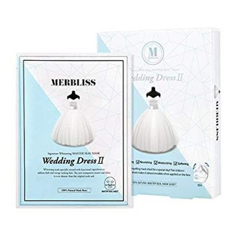Merbliss Wedding Dress II Signature Whitening MASTER Seal Mask 5pcs