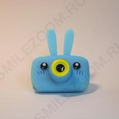Фотоаппарат детский SmileZoom Зайчик с селфи-камерой / Голубой