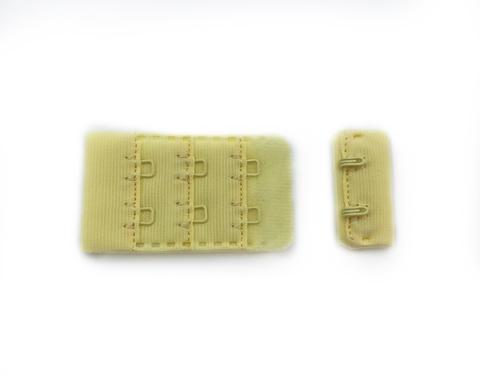 Застежка с крючками желтая 2 ряда