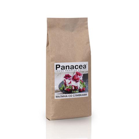 Ароматизированный кофе в зернах Panacea.Малина со сливками