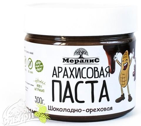 Арахисовая паста шоколадно-ореховая, 300 гр