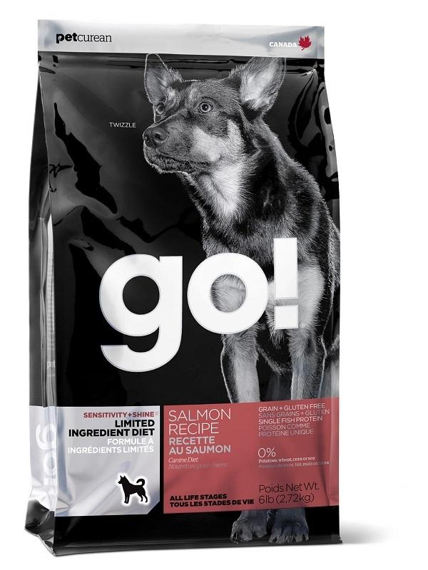 Сухой корм Корм для щенков и взрослых собак, GO! SENSITIVITY + SHINE LID Salmon Dog Recipe, Grain Free, Potato Free, беззерновой, с лососем для чувствительного пищеварения 10354.jpg