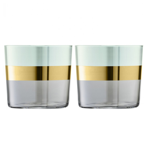 Набор из 2 стаканов Bangle, 310 мл, зелёный