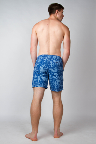 "Swim shorts ""Russian forest"""
