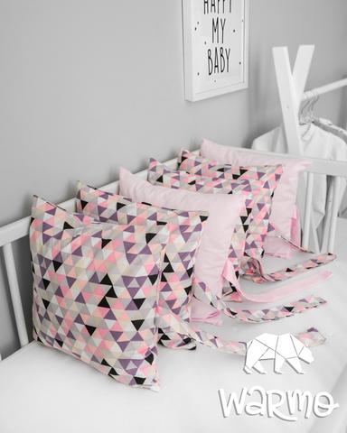 Набір бортиків-подушок в ліжечко 30x30см ГЕОМЕТРІЯ