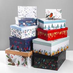 Коробка «Новогодний», 12*7*4‒32.5*20*12.5см, Маленькая 1-4