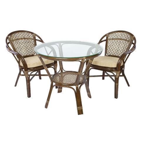 Комплект обеденный ELLENA-1 (обеденный стол и 2 кресла)