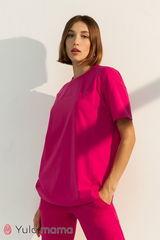 Стильная трикотажная футболка для беременных и кормящих