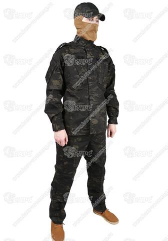 Камуфляжный костюм «ACU» (АКУ) Мультикам Чёрный