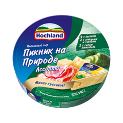 """Сыр плавленный """"Hochland"""" ассорти пикник на природе, 140 г"""