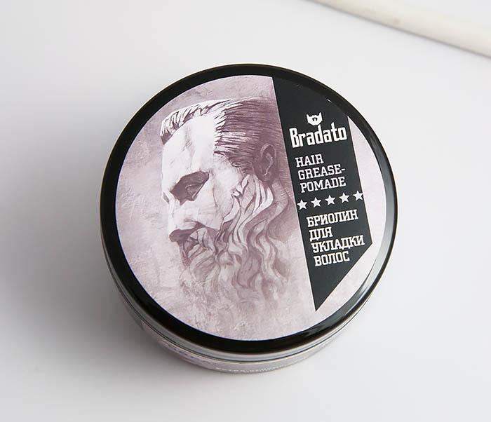 RAZ263 Бриолин экстра-сильной фиксации для укладки волос «Bradato» (100 мл) фото 02