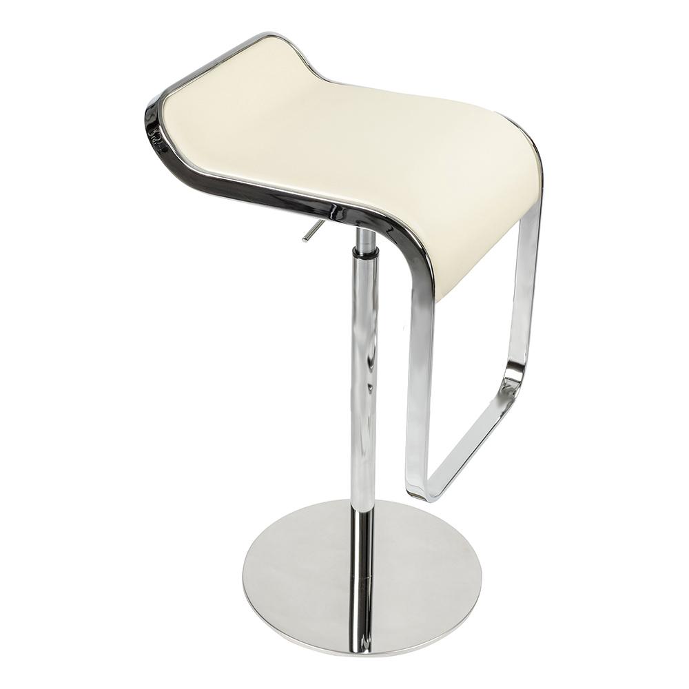 Барный стул LEM Style Piston Stool кремовая кожа - вид 4