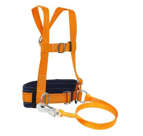 Страховочная привязь со стропом и наплечными лямками ЭКОНОМ ТИП-1
