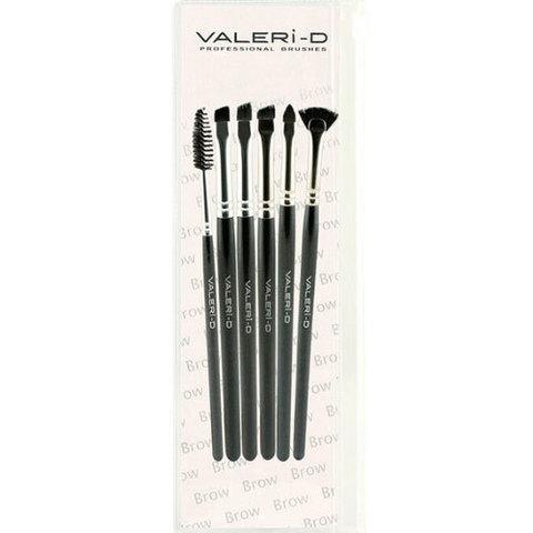 Набор из 6 кистей для оформления бровей  Valeri-D