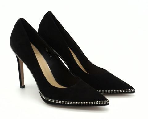 Черные классические туфли с отделкой из страз