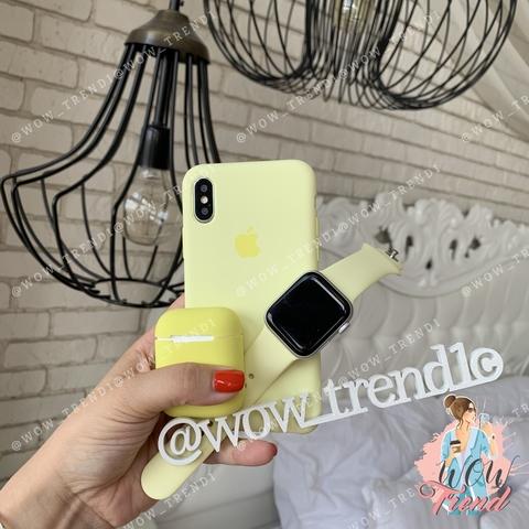 Чехол iPhone X/XS Silicone Case /mellow yellow/ волшебно-желтый original quality