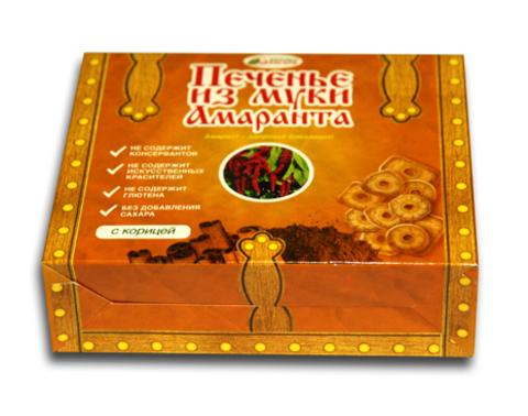 Печенье из муки амаранта Пряное с корицей без глютена 170г Авангард