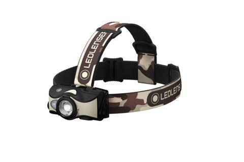 Фонарь светодиодный налобный LED Lenser MH8, черно-песочный, 600 лм