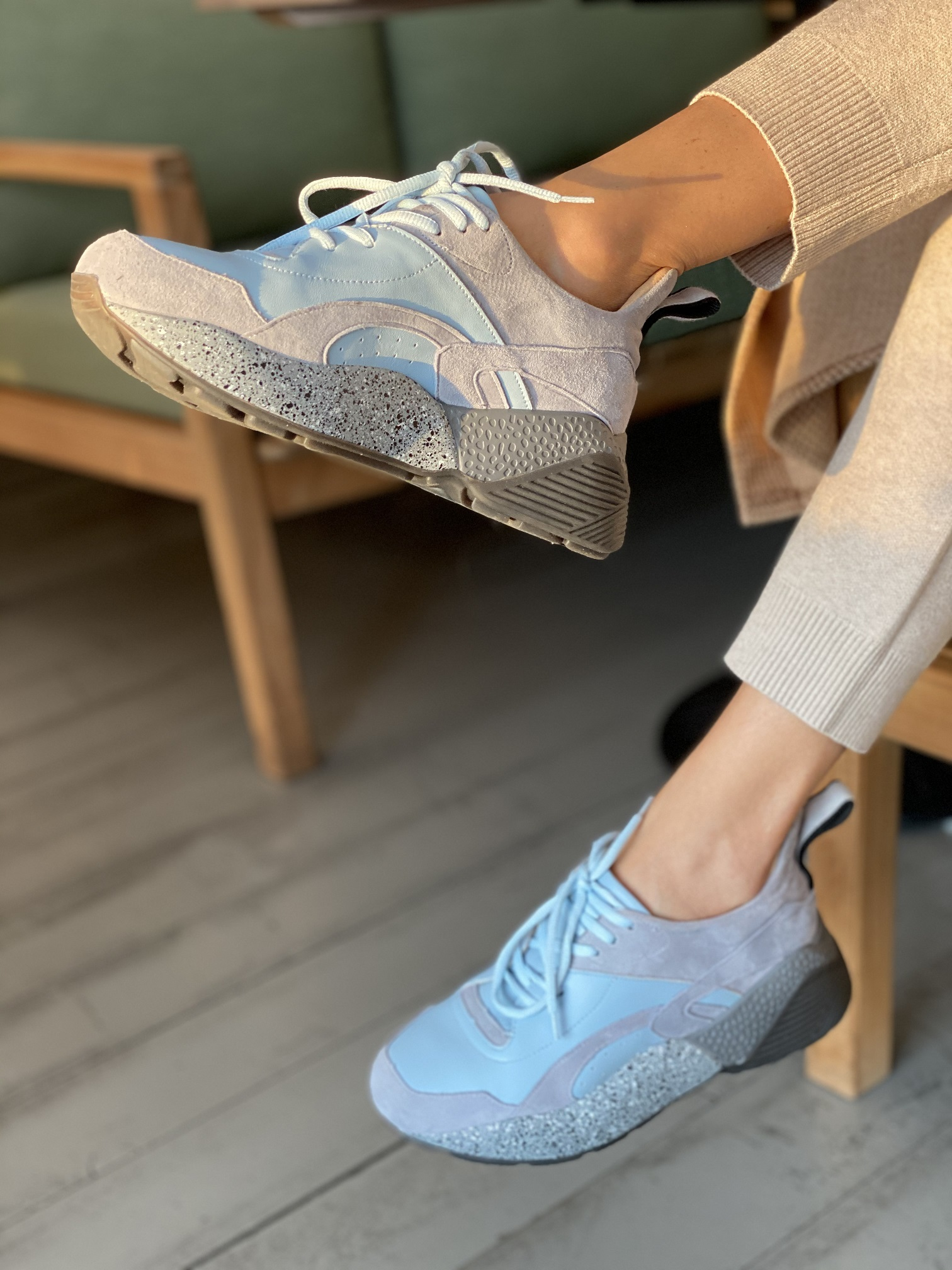 Кроссовки женские, Ballerina, Model O! (синий)