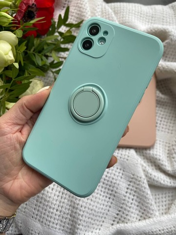 Чехол iPhone 11 Pro Silicone Full Camera Ring /mint/