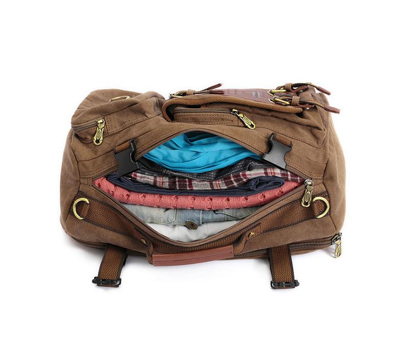 BAG367-2 Вместительный мужской рюкзак -трансформер из качественного текстиля фото 05