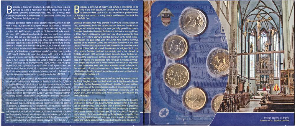 Годовой набор евро Словакия. Всемирное наследие ЮНЕСКО. 2014 год. UNC. В буклете