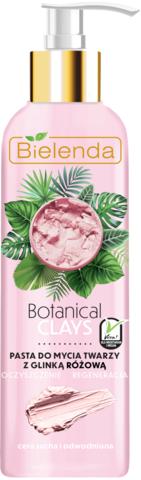 BOTANICAL CLAYS веганская очищающая паста для лица с розовой глиной 190 г