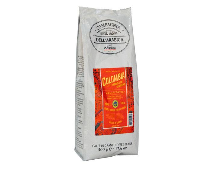 купить Кофе в зернах Compagnia Dell`Arabica Colombia Medellin Supremo, 500 г