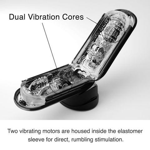 Черный мастурбатор Flip Zero с вибрацией