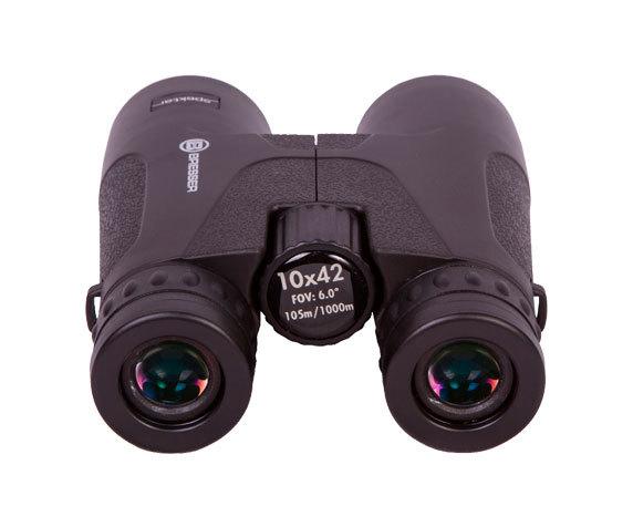 Бинокль Bresser Spektar 10x42: окуляры и колесо центральной фокусировки