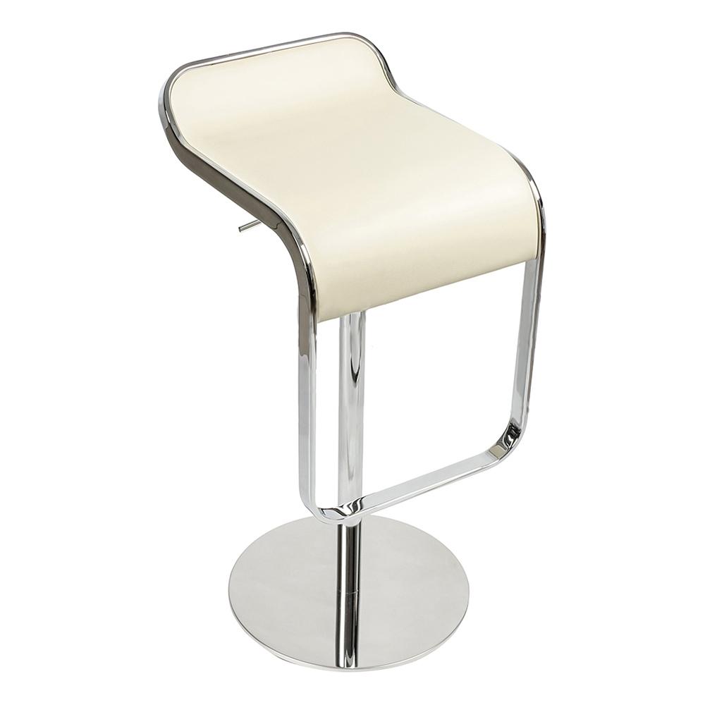 Барный стул LEM Style Piston Stool кремовая кожа - вид 1