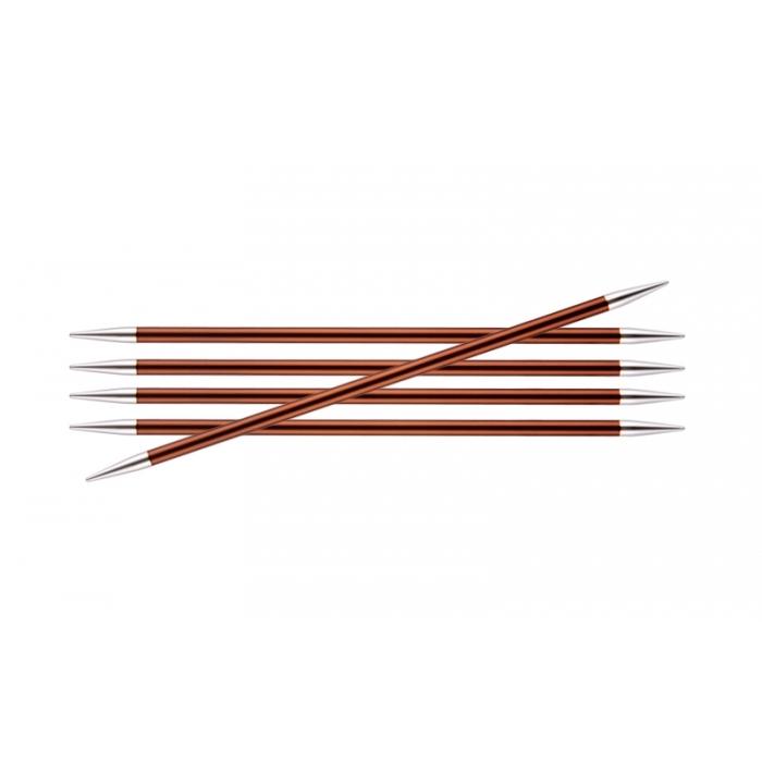Спицы KnitPro Zing чулочные 5,5 мм/15 см 47012