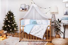 Комплект постельного белья для новорожденных с защитой-бортиками Верона Голубой мишка