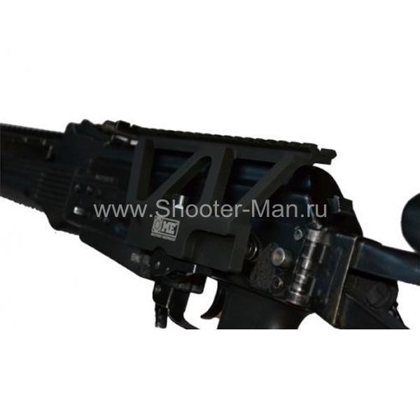 Низкопрофильный быстросъёмный боковой кронштейн с планкой Вивера для крепления оптических и коллиматорных прицелов на