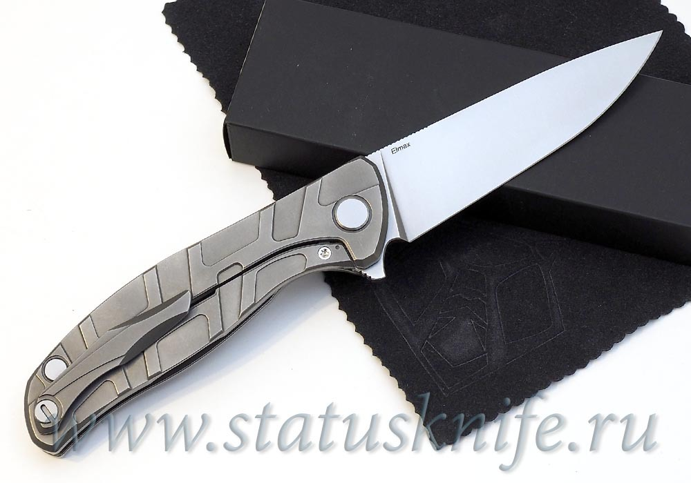 Нож Широгоров Flipper 95 ELMAX узор T подшипники - фотография