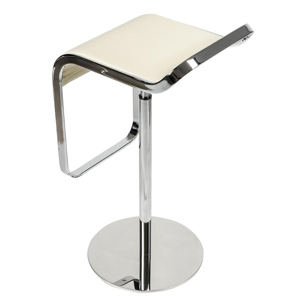 Барный стул LEM Style Piston Stool кремовая кожа - вид 5