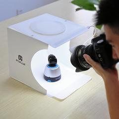 Фотобокс для предметной съемки со светодиодами 23 см