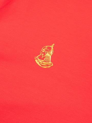 Толстовка на молнии «Великоросс» красного цвета