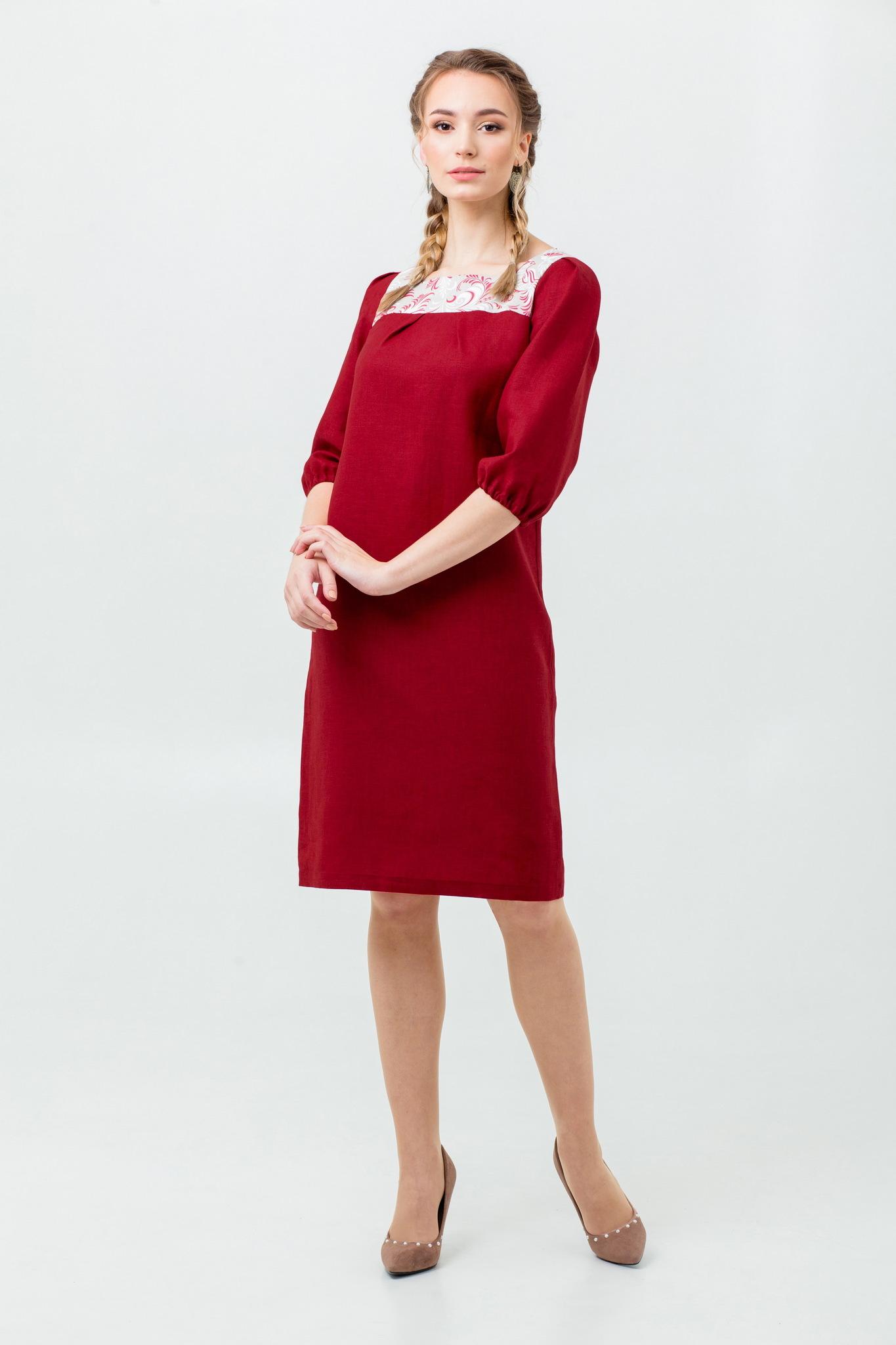 Купить льняное платье Сладкая брусника