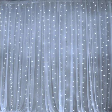 Гирлянда штора пышная размер 3*3м плотность 600LED