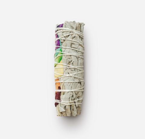 Калифорнийский белый Шалфей mini с лепестками роз - 7 Чакр