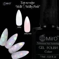 """MiRO, Топ для гель-лака молочно-розовый """"Milky Pink"""", 7,5 мл"""