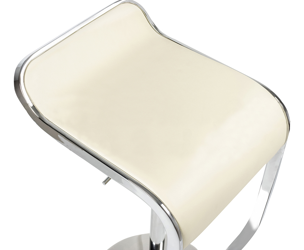 Барный стул LEM Style Piston Stool кремовая кожа - вид 6