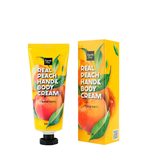 Крем для рук- Персик | Farmstay Real Peach hand&body CREAM, 100мл